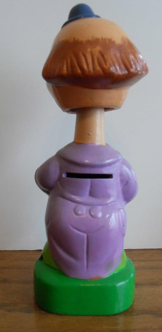 Clown Bobble Head Bank Vintage