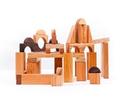 Wooden Blocks Waldorf Wooden Toddler Toy