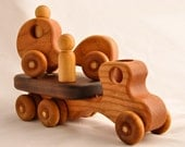Wooden Toy Car & Wooden Toy Truck Organic Cherry Kids Toy