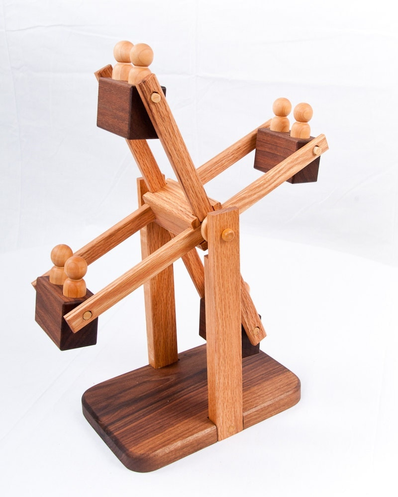 Wooden Toy Ferris Wheel Organic Natural by asummerafternoon