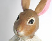 Brown Circus Rabbit Hand Puppet