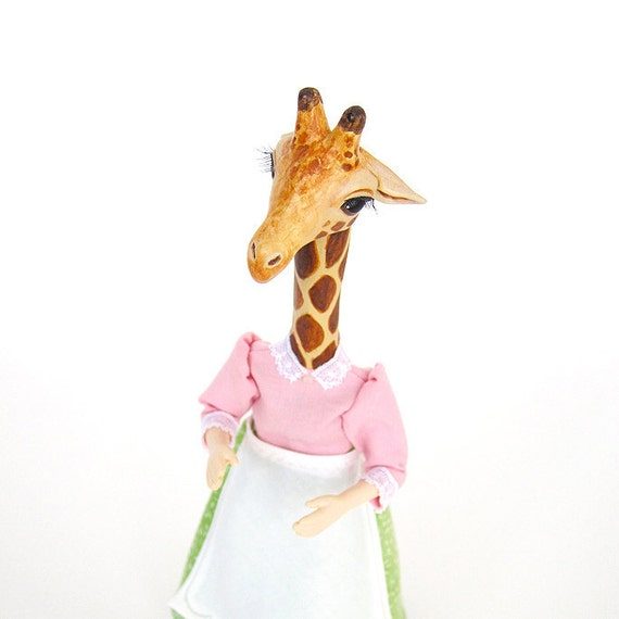 Miniature Animal Doll 1 Inch Scale - Mrs. Giraffe