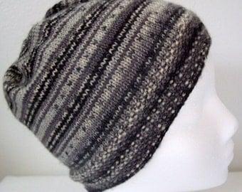 Striped Grey Beanie