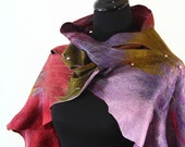 RESERVED FOR RUTH Spring Fashion huge extra long Felted scarf wrap shawl