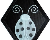 Carved Glass Ladybug Hanging Suncatcher