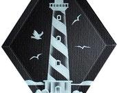 Carved Glass Cape Hatteras Lighthouse Hanging Suncatcher