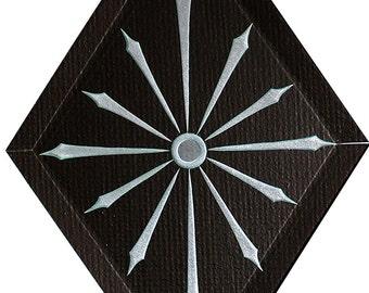 Carved Glass Star of Bethleham Hanging Suncatcher