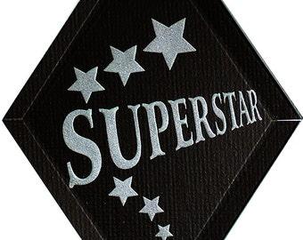 Carved Glass Superstar Hanging Suncatcher