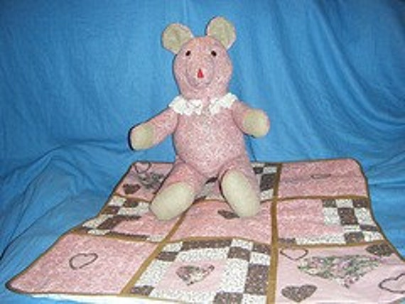 Victorian Teddy Bear and Blanket Special Order