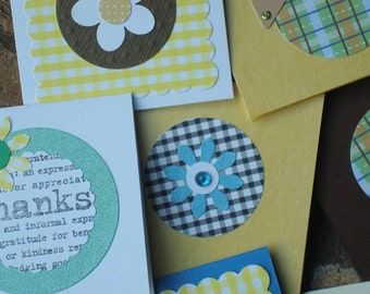 Mini Cards 60 Small Greeting Cards Assorted Colors Different Designs
