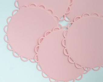 Scalloped Circles Die Cuts Lacey Circles Die Cuts Spellbinders Nestabilities Set of 20 Choose Your Colour Custom Die Cuts