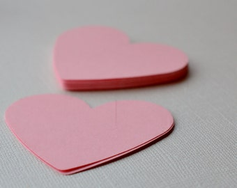 Die Cut Hearts 20 Large Paper Heart Pink Paper Heart