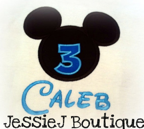 Personalized Boutique Mickey Mouse Birthday Shirt