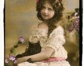 Holding A Black Cat, vintage photo, digital download scan