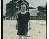 Where is my pail...Beach Child  vintage photo digital download