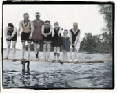 Dive In,  Swimmer vintage photo,photograph digital download