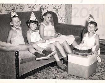 vintage photo  Birthday Party digital download