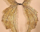 One of a Kind  Fairy Wings-Iridescent-On Golden Wings- Doll and Bear Wings