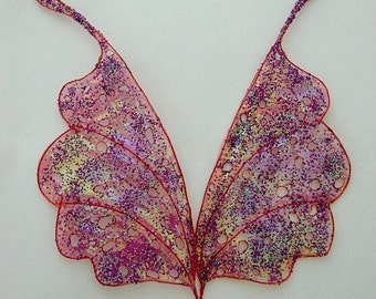 Fairy Wings-Whimsacal Moth Wings-Ooak-Sized for Dolls and Bears (Made To Order by Request)