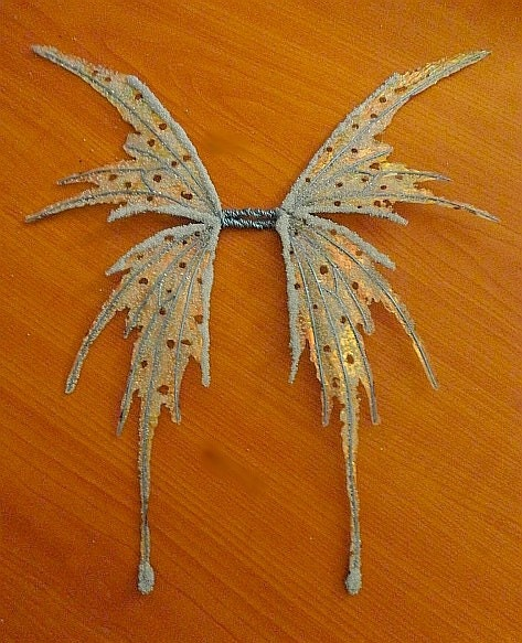 Fairy Wings-Iridescent Ice Pixie Fairy Wings for Dolls Made