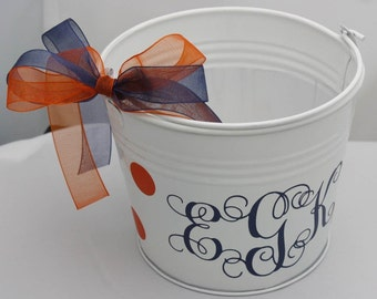 SALE small, galvanized pail/personalized for you