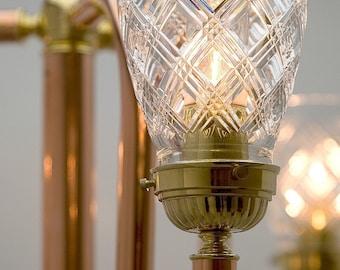 Trident Copper Floor Lamp, Copper Lighting, Artisan Lamps