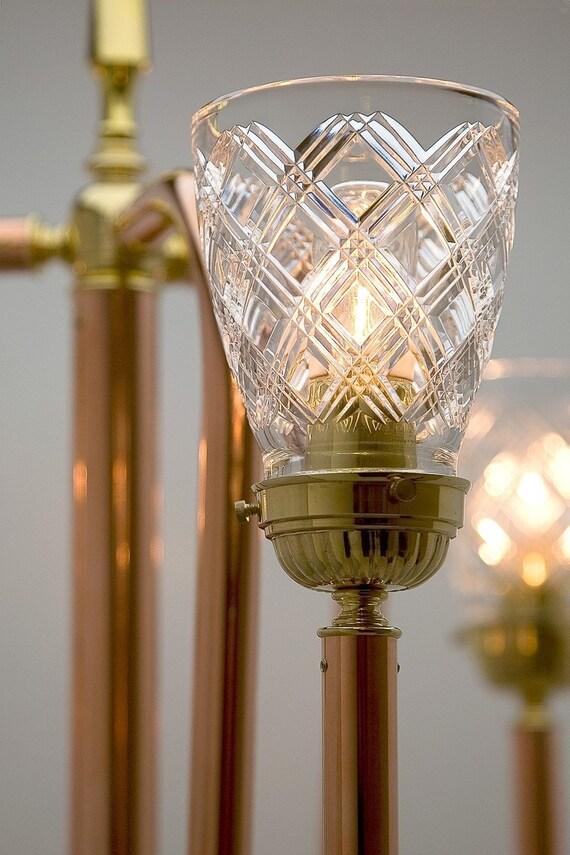 Trident Copper Floor Lamp