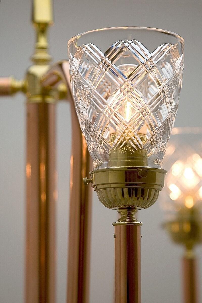 trident copper floor lamp copper lighting artisan lamps. Black Bedroom Furniture Sets. Home Design Ideas