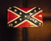 Dixie Red Metal Flake Wallet