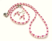 Pretty In Pink Necklace with Bracelet and Earrings