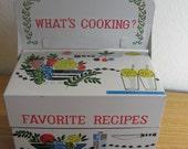 Vintage Recipes tin box , FAVORITE RECIPES . Made in Japan