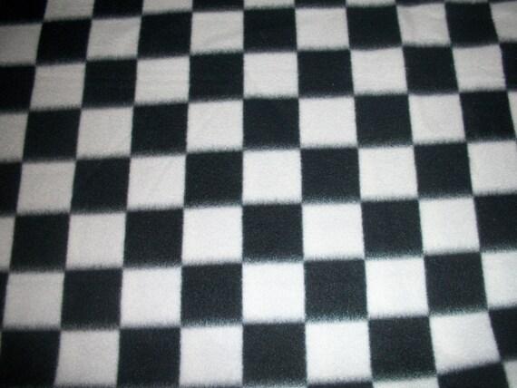 Checkered Flag Print Double Sided Polar Fleece Blanket