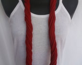 Infinity Scarf -Cherry Red Color