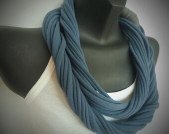 Infinity Scarf - Indigo Blue Color