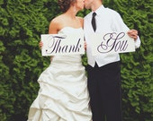 Wedding Signs, Photo Prop Thank You Wooden Boards Great for Thank You Cards, Featured item of theknottybride.com