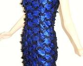 COUPON SALE - Cobalt Blue Cocktail Party MINI Dress