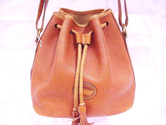 Reserved for signesarah - DOONEY & BOURKE Brown Bucket Drawstring Cinch Purse Shoulder Bag Tote