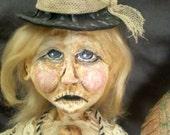 Billi Mae Wilson Steampunk Folk Art Paper Clay Gothic Doll