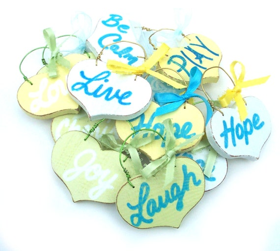Baby Shower Favor Wedding Favor Garden Stakes SIGNS Distressed Handmade Hand-painted Wooden WHAGN Made to Order
