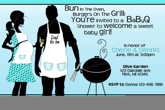 Items similar to BBQ Baby Shower Printable Invitation on Etsy