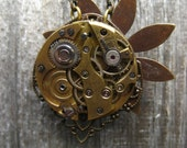 Steampunk Flowered Necklace