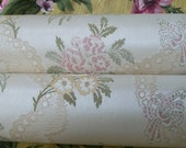 Vintage French Russet Briar Roses Wallpaper roll for period paper projects by the Yard