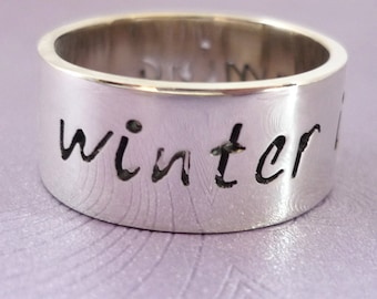 Winter is Coming Handmade Sterling Silver Ring