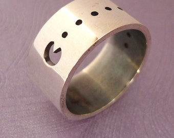 Pacman Sterling Silver Ring