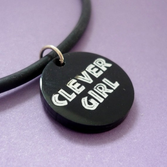 Clever Girl Jurassic Park Quote Pendant