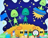 20 DOLLARS OFF Value Package from the Alien Invasion DIY Printable Birthday Party Collection by Spaceships and Laser Beams