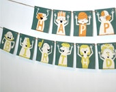 Football Birthday Banner Party Decoration from the Football Fun DIY Printable Collection by Spaceships and Laser Beams
