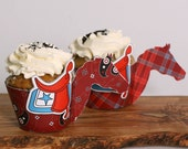 Horse Cupcake Wrappers from the Cowboy Cool DIY Printable Birthday Party Collection by Spaceships and Laser Beams