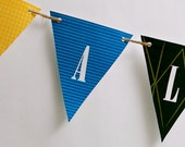 All Aboard Banner from the Vintage Trains DIY Printable Collection by Spaceships and Laser Beams