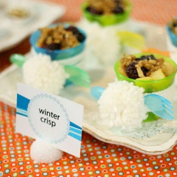 Items Similar To Food Labels From The Flurry Of Fun Winter